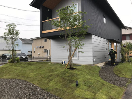 大川の家 植栽工事
