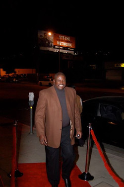 My cuz Al Thompson on the red carpet at my 35th Anniversary celebration _ Barzac Brasserie in Univer