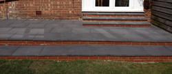 Charcoal Concrete Imitation Flags