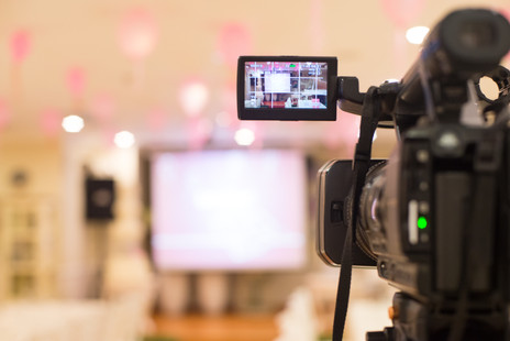 Video filming of weddings