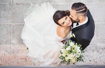 Wedding photos from a drone