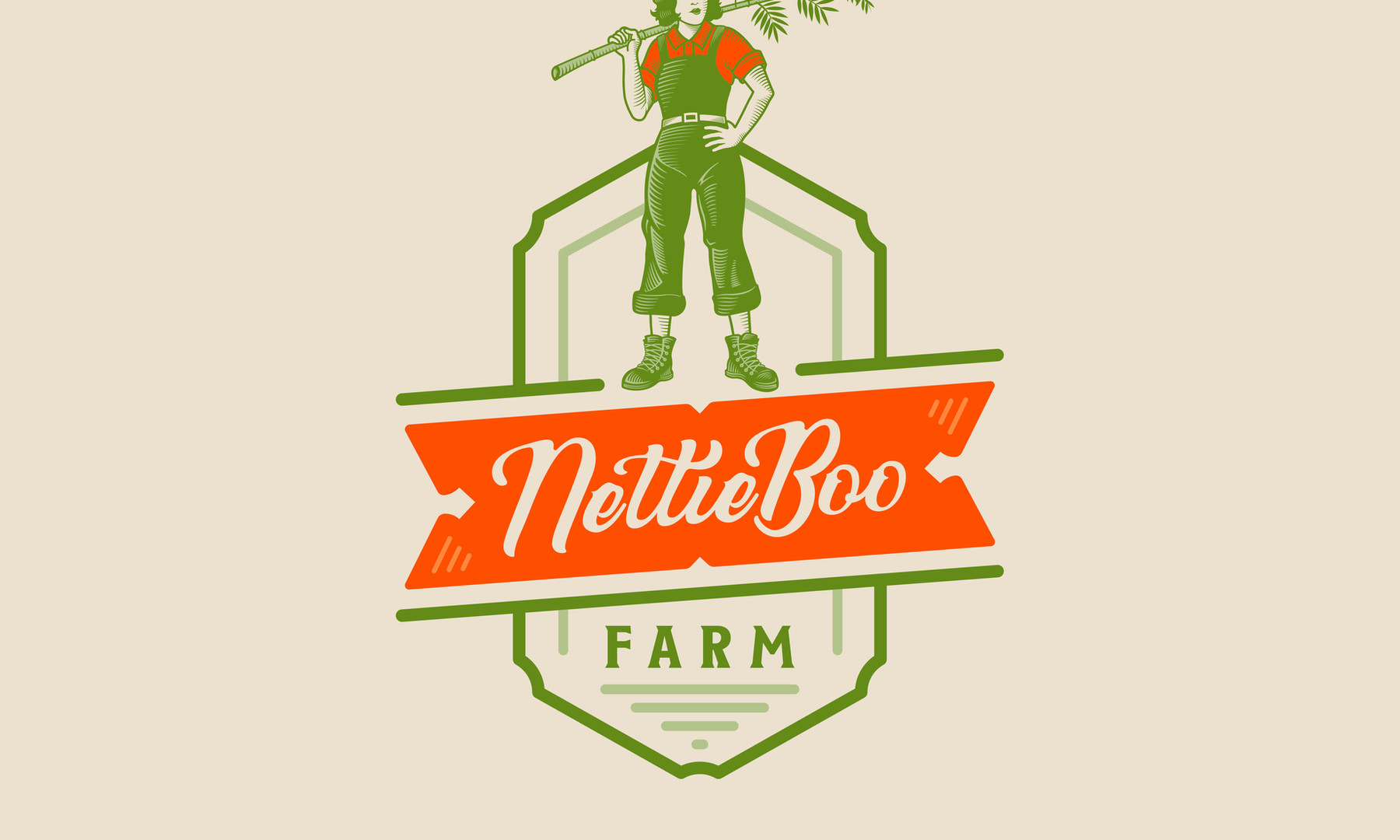Logo Design for NettieBoo Farm.