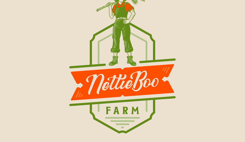 Logo Design for NettieBoo Farm.