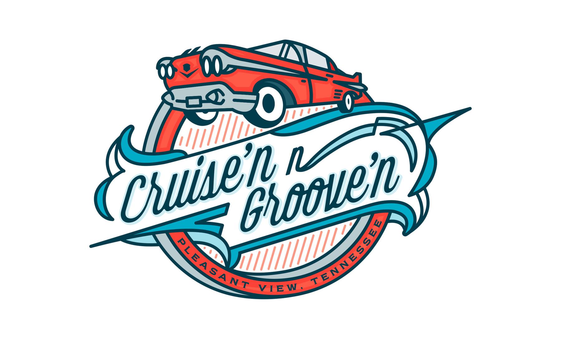 Logo Design for Cruise'n N Groove'n (Pleasant View, TN)