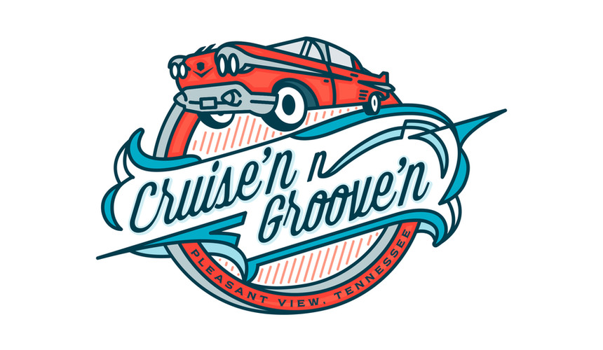 Logo Design for Cruise'n N Groove'n (Pleasant View, TN)