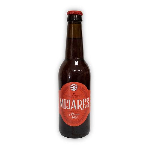 Cerveza artesana Mijares Brown Ale 33 cl