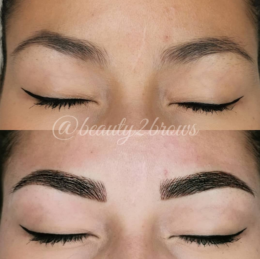 Combination Brows by @beauty2brows