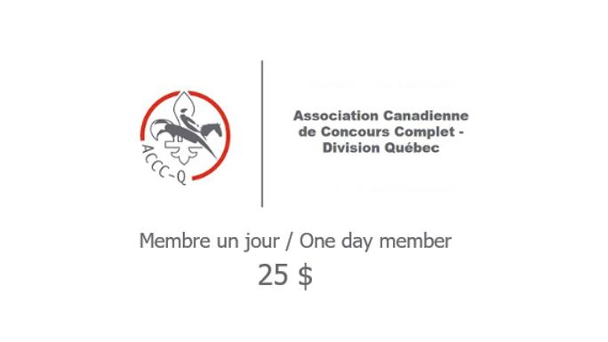 Adhésion - Membre un jour