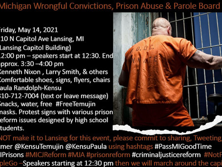 This Friday: Rally to show support for the State of Michigan Conviction Integrity Unit
