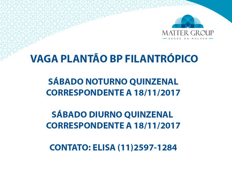 VAGA BP FILANTRÓPICO
