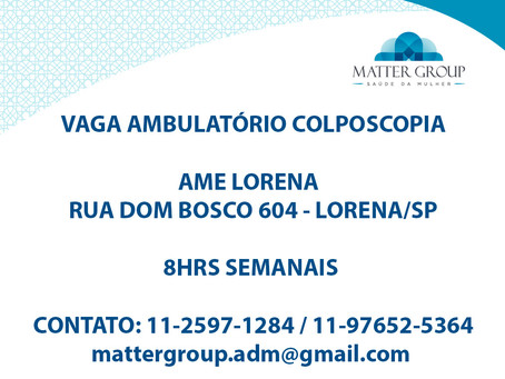 Vaga Ambulatório Colposcopia - Ame Lorena