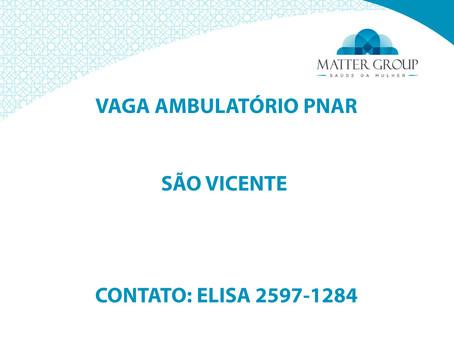 VAGA AMBULATÓRIO PNAR