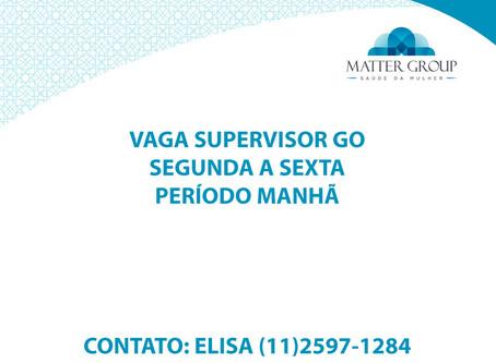 VAGA SUPERVISOR GO