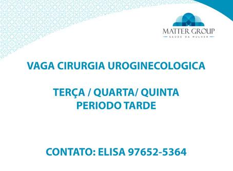 Cirurgia Uroginecologia