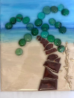 Kids Craft glass and beaded Palm Tree