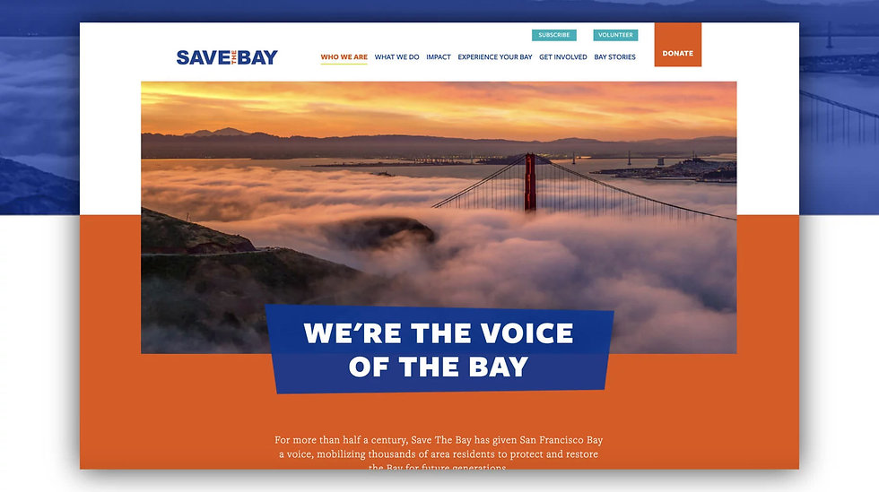 Save the Bay San Francisco website
