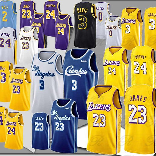 LeBron 23 James 3 Anthony Davis jerseys 8 Bryant 24 Kobe NCAA 14 Ingram 0 Kuzma