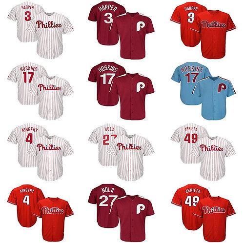 Philadelphia # Phillies Mens Knit jersey Bryce Harper Rhys Hoskins Scott Kingery