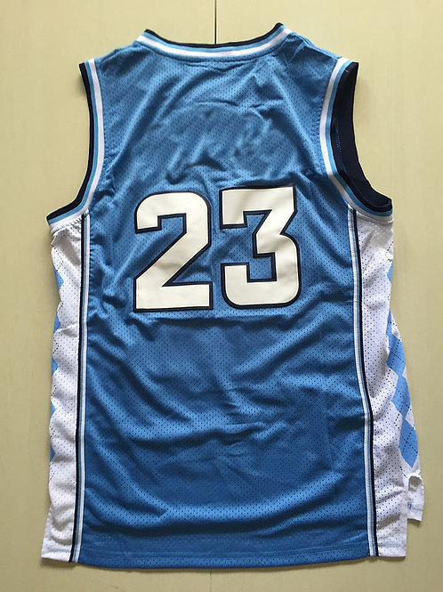 North UNC 1982-1983 #23 Throwback Rev 30 Basketball Blue White jersey