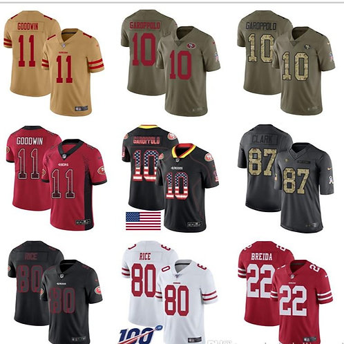 49er Jerseys Joe Montana Jerry Rice Dwight Clark Jimmy Garoppolo Richard Sherman