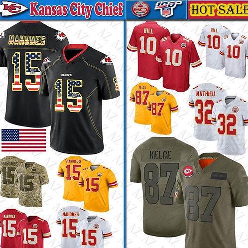 5 Patrick Mahomes II USA Flag jersey Men Kansas City 87 Travis Kelce 10 Tyreek H