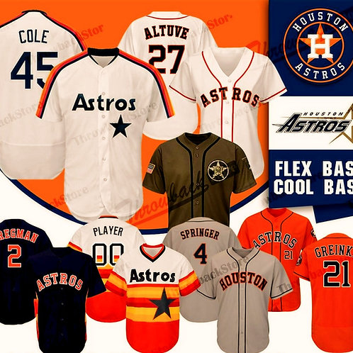 Houston 2019 Astros Jersey George Springer Alex Bregman Jose Altuve Zack Greinke