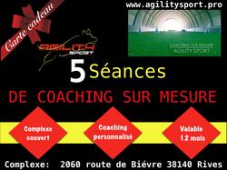 5 SÉANCES AGILITY