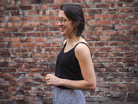 Adi Collective Classic Elegant Black Tank Top. Made by refugees.