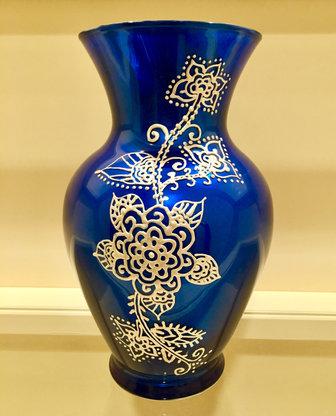 SOLD - Unique Royal Blue Vase - $65