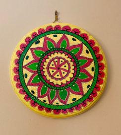 Yellow Mandala Wall Art - $45