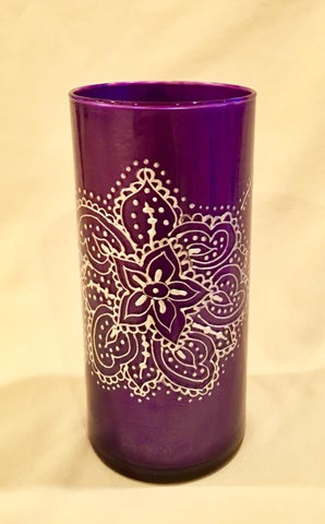 Purple Vase/Spoon Holder - $25