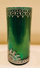 SOLD - Vase or Spoon Holder - Green - $25