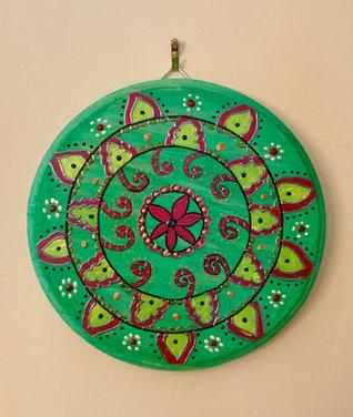 Mandala Wall Art - Green - $30