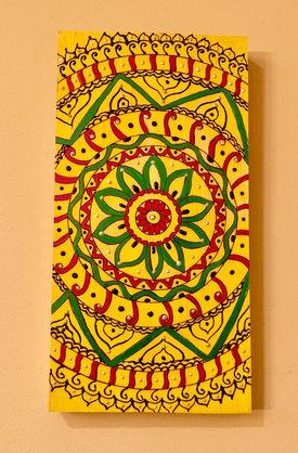 Rectangular Wall Art - Yellow - $45