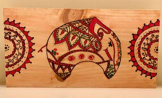 Rectangular Wall Art - Elephant - $50