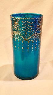 Peacock Blue Vase/Spoon Holder - $25