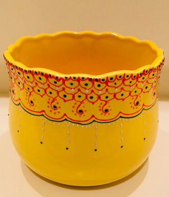 SOLD - Yellow Deep Serving Bowl