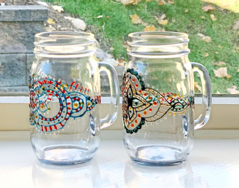 Colorful Mason Jars