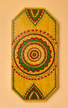 Octagonal Wall Art - Yellow - $90