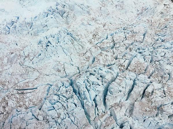 hielo agrietado