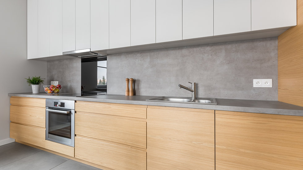 L Shaped Plywood Modular Kitchen