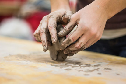 Hands on with clay