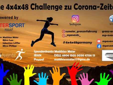 4x4x48 Challenge - Ein Sportevent zu Corona-Zeiten- Vorberichte der regionalen Zeitungen