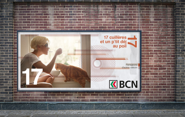 Création de la Campagne de publicité institutionnelle pour la  Banque Cantonale Neuchâteloise (BCN)
