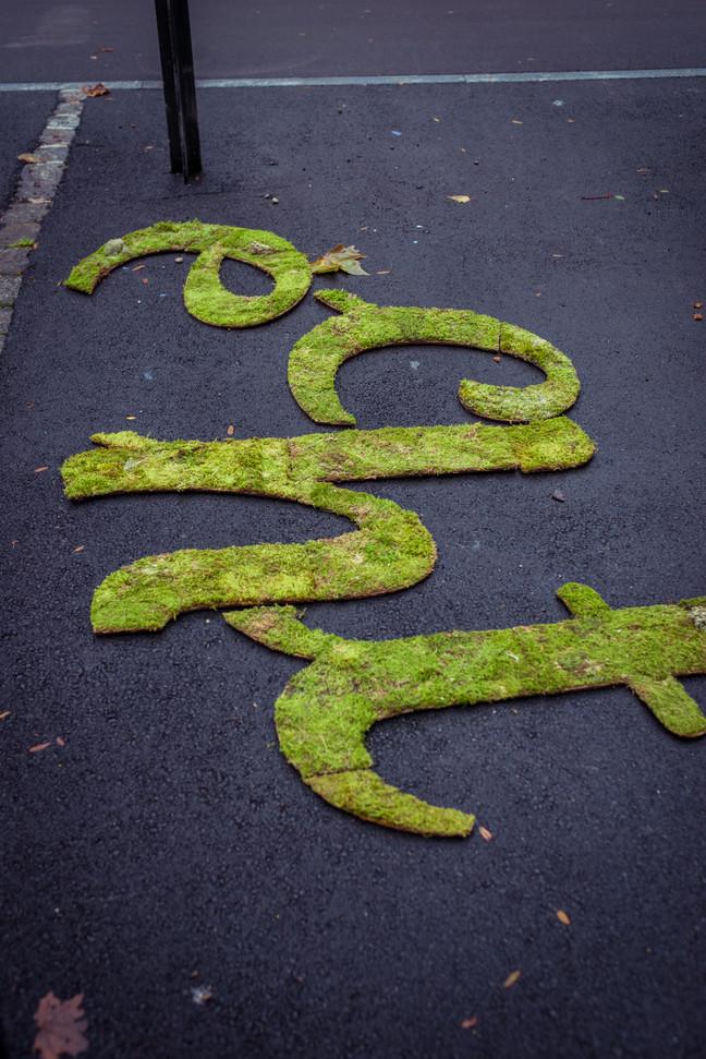 Conception de la campagne de publicité pour la région du Jura. Guérilla sous forme de tags végétaux.