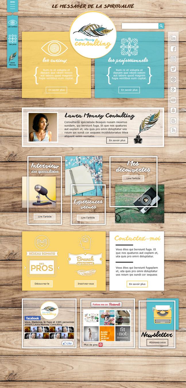 Création et habillage graphique de site internet.
