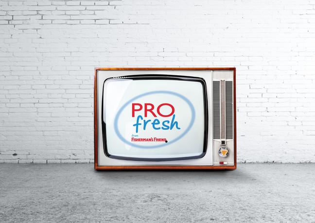 Création d'un spot de publicité pour la télévision Suisse pour PROfresh en motion design. Fisher