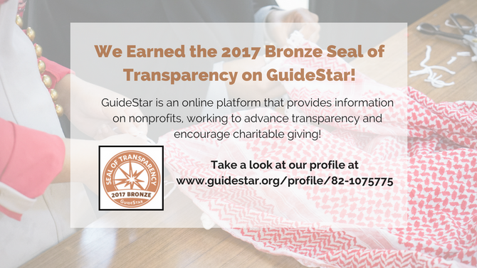 We Have Received the Bronze Seal of Transparency!