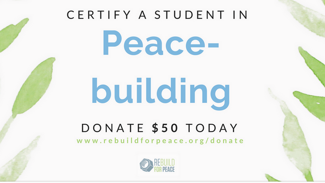 What Does A Peace-building Certificate Mean?