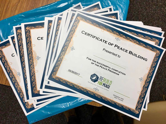 Rebuild for Peace Certifies Refugees in the US